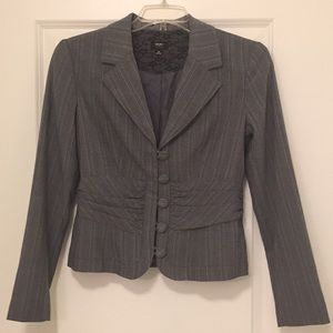 Career Fashion Blazer w/ buttons and rusching